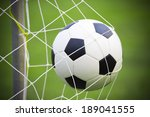 soccer football in goal net | Shutterstock . vector #189041555