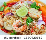 Instant Noodle Spicy Salad With ...