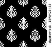 black and white damask... | Shutterstock .eps vector #1890425488