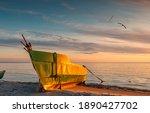 Anchored On Sandy Beach Fishing ...