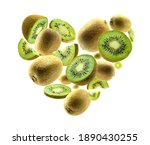 ripe kiwis in the shape of a... | Shutterstock . vector #1890430255