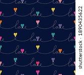 multi colored valentine's day... | Shutterstock .eps vector #1890435622