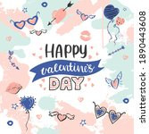 abstract valentine's day... | Shutterstock .eps vector #1890443608