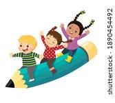 vector illustration cartoon of... | Shutterstock .eps vector #1890454492