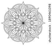 mandalas for coloring book....   Shutterstock .eps vector #1890461098