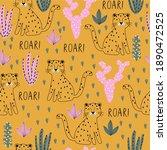 cute vector seamless pattern... | Shutterstock .eps vector #1890472525