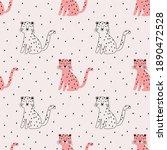 cute vector seamless pattern... | Shutterstock .eps vector #1890472528
