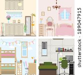 illustration of room | Shutterstock .eps vector #189047915