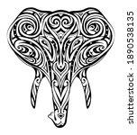 tribal tattoo shape for... | Shutterstock . vector #1890538135