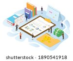 financial administration... | Shutterstock .eps vector #1890541918