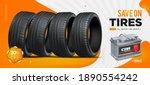 car tire. wheel black... | Shutterstock .eps vector #1890554242