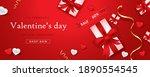 promo web banner for valentine... | Shutterstock .eps vector #1890554545
