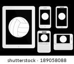 mobile devices with ball white | Shutterstock .eps vector #189058088