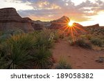 Colorful Desert Sunrise With...
