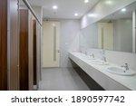 Empty Public Bathroom With...