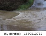 Flood Water In Countryside...