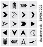 a collection of vector chevron... | Shutterstock .eps vector #189067202