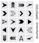 A collection of vector chevron and arrowhead design elements | Shutterstock vector #189067202