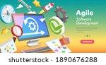 3d vector conceptual... | Shutterstock .eps vector #1890676288