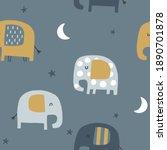 baby seamless vector pattern.... | Shutterstock .eps vector #1890701878