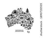 adventure elements shaped...   Shutterstock .eps vector #1890720535