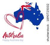 love australia. map of...   Shutterstock .eps vector #1890725032