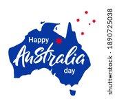 happy australia day. australia...   Shutterstock .eps vector #1890725038