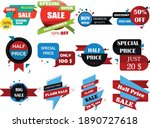 all flat design tags for... | Shutterstock .eps vector #1890727618