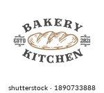 logo badge of bread isolated on ...   Shutterstock .eps vector #1890733888