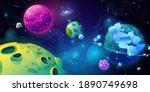 fantasy universe  galaxy with... | Shutterstock .eps vector #1890749698