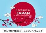 japan nation foundation day...   Shutterstock .eps vector #1890776275