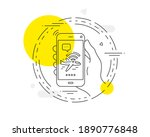 airplane wifi line icon. mobile ...   Shutterstock .eps vector #1890776848