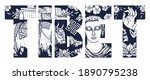 tibet slogan. oriental asian... | Shutterstock .eps vector #1890795238
