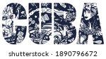 cuba slogan.  island of freedom ... | Shutterstock .eps vector #1890796672