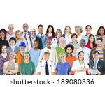 group of multiethnic mixed... | Shutterstock . vector #189080336
