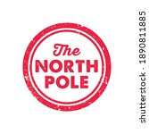 the north pole stamp print | Shutterstock .eps vector #1890811885