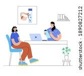 woman in gynecology office... | Shutterstock .eps vector #1890827212