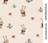 cute seamless pattern with... | Shutterstock .eps vector #1890836932