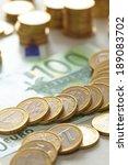 euro coins | Shutterstock . vector #189083702