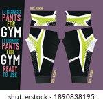 leggings pants vector for gym... | Shutterstock .eps vector #1890838195