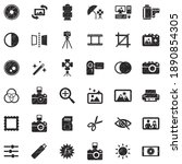 photography icons. black...   Shutterstock .eps vector #1890854305
