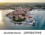 Aerial View Of The Old Town In...