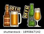 vector logos for beer  outline... | Shutterstock .eps vector #1890867142