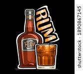 vector logo for rum  outline... | Shutterstock .eps vector #1890867145