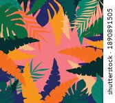 colorful leaves poster...   Shutterstock .eps vector #1890891505