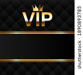 gold vector vip icon and crown... | Shutterstock .eps vector #1890893785