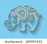 cute little elephant  cartoon... | Shutterstock .eps vector #189091922