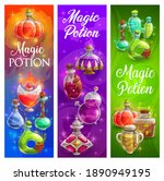 halloween posters with witch... | Shutterstock .eps vector #1890949195