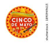cinco de mayo vector icon with... | Shutterstock .eps vector #1890949615
