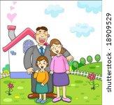 family time   Shutterstock .eps vector #18909529